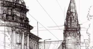Architectural drawings of historic buildings, mostly in and around ...