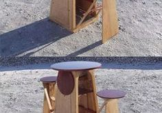 Expanding outdoor drinking table - great idea! of which 3 times for the garden and ma ...