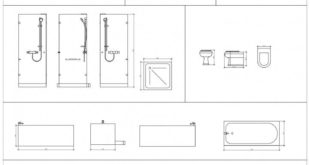 Free cad blocks - from the first in architecture. bathroom