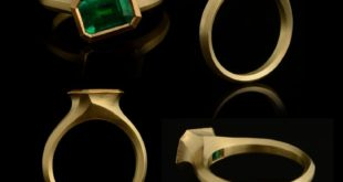 It's all about the emerald in this design, carved and cast, the ring is in 1 ...