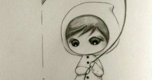 Pencil Art With Images | Draw-learn-with-pencil with-Thumbelina
