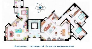 The Big Bang Theory - Floor Plans by Sheldon, Leonard and Penny
