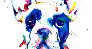 French Bulldog Frenchie Art Print by WeekdayBest