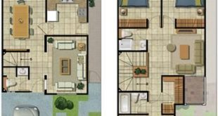 Flat plans for two-story houses - Search with Google # Homespequeñasdospisos