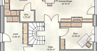 Art 155: floor plan of a Mediterranean villa with more than 150 square meters of living space