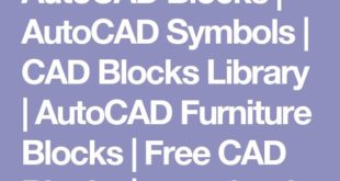 AutoCAD Blocks | AutoCAD symbols | CAD block library | Furniture blocks AutoCAD ...