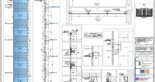 Autocad drawings of the facade and aluminum windows and doors.