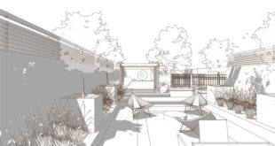 Bowles and Wyer, garden perspective, Sketchup, line processing -AutoCad / PhotoShop / Il ...