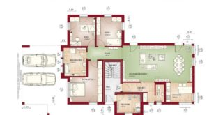 Classic two-family house with sloping roof and granny floor - Grundris House ...