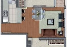 DEPARTMENT PLANS OF 2 BEDROOMS IN 53m2 and 54M2: FREE HOUSING PLANS ...