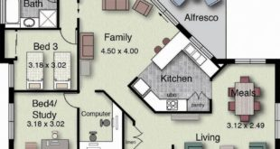 DesertRose,;, Plan of beautiful house with 4 bedrooms and 2 garages, modern style ...