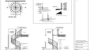 Detailed drawings of the spiral staircase - AutoCAD en Behance