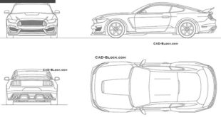 Ford Mustang (2015) CAD Block