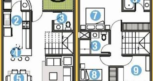 HOUSE PLANS IN 90M2 OF LAND 6m x 15m: FREE HOUSING PLANS AND DEPARTMENT ...