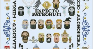 Harry Potter parody Giant version PDF cross stitch pattern