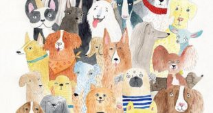 I had an impression of the cat. So people asked for dogs. Here it is. I hope you can find ...