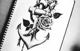 Image result for anchor with rose tattoo