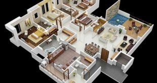 Image result for models of houses with 4 rooms