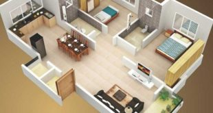 Large apartment with 2 bedrooms