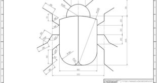 Learning drawings> 2D practice drawings> AutoCAD practice drawing - 803: Naverible ...