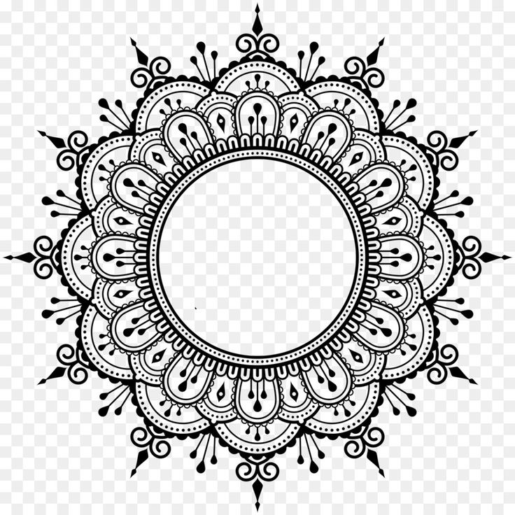 Mandala AutoCAD DXF - decorative line - Dwg Drawing Download!