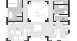 Modern Bauhaus style ground floor house with patio and floor ...