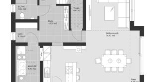 Modern house with extension architecture and saddle roof - Grundr house construction ideas ...