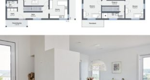 Modern house with separate apartment, garage, fireplace and gable roof architecture in Ha ...
