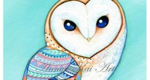 Owl - Watercolor Painting Nature - FREE SHIPPING