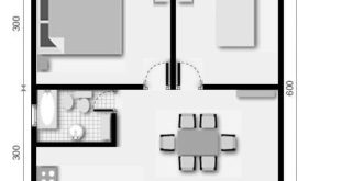 Plans of houses of 30 square meters