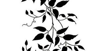 Wall Template Large Clematis Branch by CuttingEdgeStencils on Etsy