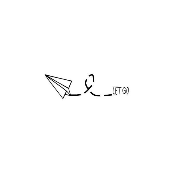 209a6c570232e let go- paper airplane- inspirational words temporary tattoo (€ 4,46) ❤  liked in ... - Dwg Drawing Download!