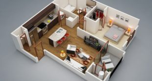 Cool 3D A room apartment | More on our website | Today, the me ...