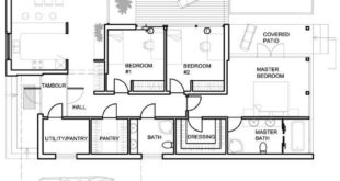 Modern, cute and simple house plan, 3 bedrooms-2
