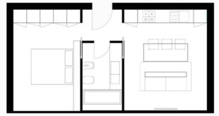 Plans of small apartments of one and two bedrooms | Build Home