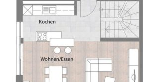 Semi-detached house - type A - ground floor with terrace 74,85 m²