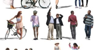 Texture psd character people cutout
