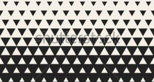 Vector seamless black and white triangle halftone grid gradient pattern ...