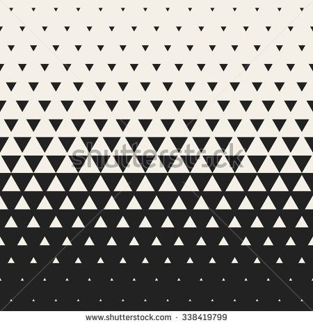 Vector Seamless Black and White Morph Triangle Halftone Grid