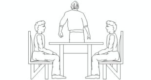 raised table with people sitting