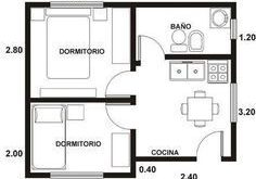 small house plans - Search with Google # cocinaspequeñasdepartamento