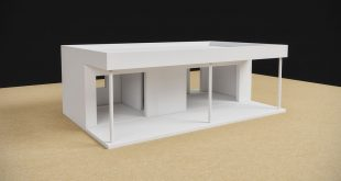 New design for a small prefabricated house.