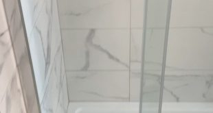 Bathroom renovation with before-and-after video.This room was designed especially for families