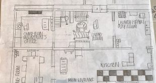 Cat house, entire floor plan. It is good to know the layout of his house