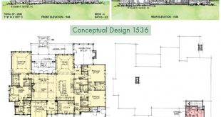Conceptual Design 1536 is a one-story, family-friendly house plan with multiple features