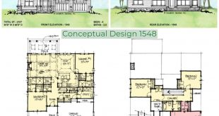 Conceptual Design 1548 is an intergenerational floor plan with two main bedrooms