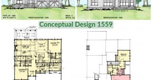 Conceptual Design 1559 is a two-story house plan with two master suites on the f