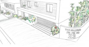 Conceptual design (hand-drawn) for the last completed project - 3 detached townhouses