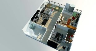 , Elegant and open layout. Specification: - Master Bedroom + Ba