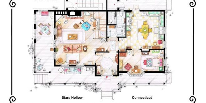 Floor Plans By Lorelai And Rory Gilmore By Gilmore Girls If You Are Interested Dwg Drawing Download
